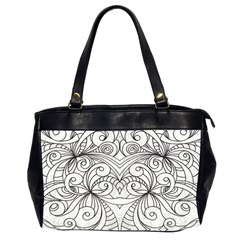 Drawing Floral Doodle 1 Oversize Office Handbag (two Sides) by MedusArt