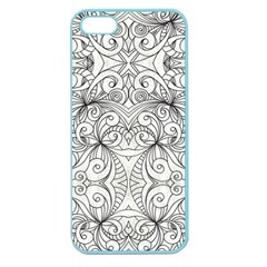 Drawing Floral Doodle 1 Apple Seamless Iphone 5 Case (color) by MedusArt