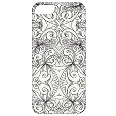 Drawing Floral Doodle 1 Apple Iphone 5 Classic Hardshell Case by MedusArt