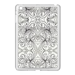 Drawing Floral Doodle 1 Apple Ipad Mini Case (white) by MedusArt