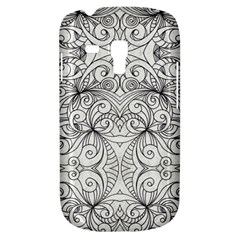 Drawing Floral Doodle 1 Samsung Galaxy S3 Mini I8190 Hardshell Case by MedusArt