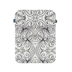 Drawing Floral Doodle 1 Apple Ipad Protective Sleeve by MedusArt