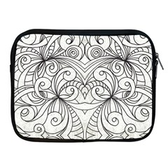 Drawing Floral Doodle 1 Apple Ipad Zippered Sleeve by MedusArt