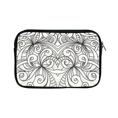 Drawing Floral Doodle 1 Apple Ipad Mini Zippered Sleeve by MedusArt