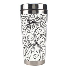 Drawing Floral Doodle 1 Stainless Steel Travel Tumbler by MedusArt