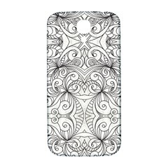 Drawing Floral Doodle 1 Samsung Galaxy S4 I9500/i9505  Hardshell Back Case by MedusArt