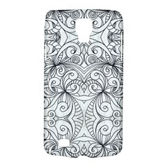 Drawing Floral Doodle 1 Samsung Galaxy S4 Active (i9295) Hardshell Case by MedusArt