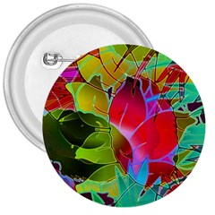 Floral Abstract 1 3  Button by MedusArt