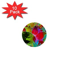 Floral Abstract 1 1  Mini Button (10 Pack) by MedusArt