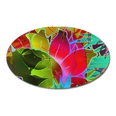 Floral Abstract 1 Magnet (oval) by MedusArt