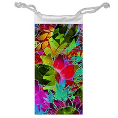 Floral Abstract 1 Jewelry Bag by MedusArt
