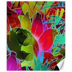 Floral Abstract 1 Canvas 8  X 10  (unframed) by MedusArt