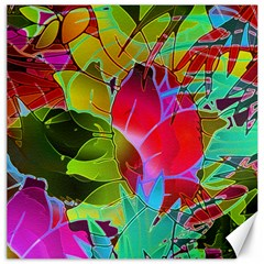 Floral Abstract 1 Canvas 16  X 16  (unframed) by MedusArt