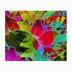 Floral Abstract 1 Glasses Cloth (small, Two Sided) by MedusArt