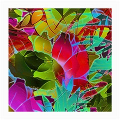 Floral Abstract 1 Glasses Cloth (medium, Two Sided) by MedusArt