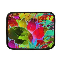 Floral Abstract 1 Netbook Sleeve (small) by MedusArt