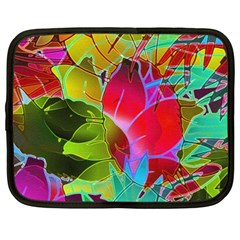 Floral Abstract 1 Netbook Sleeve (xl) by MedusArt