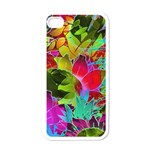 Floral Abstract 1 Apple iPhone 4 Case (White) Front