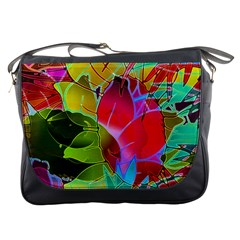 Floral Abstract 1 Messenger Bag by MedusArt