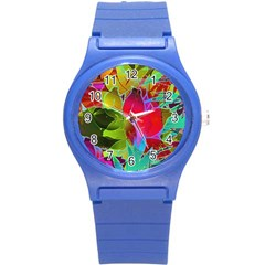 Floral Abstract 1 Plastic Sport Watch (small) by MedusArt