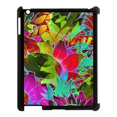 Floral Abstract 1 Apple Ipad 3/4 Case (black) by MedusArt