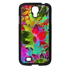 Floral Abstract 1 Samsung Galaxy S4 I9500/ I9505 Case (black) by MedusArt