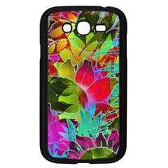 Floral Abstract 1 Samsung Galaxy Grand Duos I9082 Case (black) by MedusArt