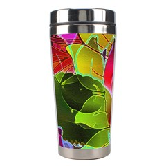Floral Abstract 1 Stainless Steel Travel Tumbler by MedusArt
