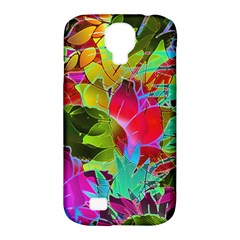 Floral Abstract 1 Samsung Galaxy S4 Classic Hardshell Case (pc+silicone) by MedusArt