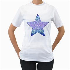 Glitter2 Women s T Shirt (white) by MedusArt