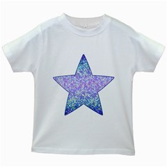 Glitter2 Kids T Shirt (white)