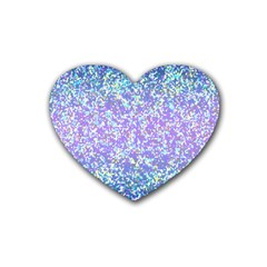 Glitter2 Drink Coasters 4 Pack (heart)