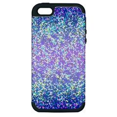 Glitter2 Apple Iphone 5 Hardshell Case (pc+silicone) by MedusArt