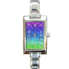 Grunge Art Abstract G57 Rectangle Italian Charm Watch by MedusArt