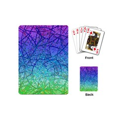Grunge Art Abstract G57 Playing Cards (mini) by MedusArt