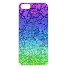 Grunge Art Abstract G57 Apple Iphone 5 Seamless Case (white) by MedusArt