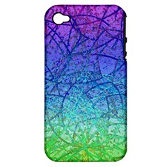 Grunge Art Abstract G57 Apple Iphone 4/4s Hardshell Case (pc+silicone) by MedusArt