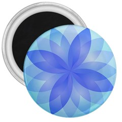 Abstract Lotus Flower 1 3  Button Magnet by MedusArt