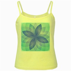 Abstract Lotus Flower 1 Yellow Spaghetti Tank by MedusArt