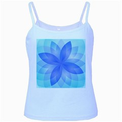 Abstract Lotus Flower 1 Baby Blue Spaghetti Tank by MedusArt