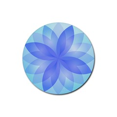 Abstract Lotus Flower 1 Drink Coasters 4 Pack (round) by MedusArt