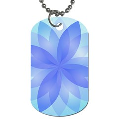 Abstract Lotus Flower 1 Dog Tag (one Sided) by MedusArt