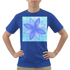 Abstract Lotus Flower 1 Men s T Shirt (colored) by MedusArt