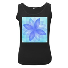 Abstract Lotus Flower 1 Women s Tank Top (black)