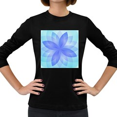 Abstract Lotus Flower 1 Women s Long Sleeve T-shirt (dark Colored) by MedusArt