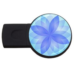 Abstract Lotus Flower 1 4gb Usb Flash Drive (round) by MedusArt