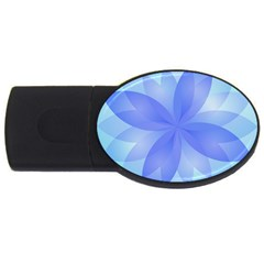 Abstract Lotus Flower 1 4gb Usb Flash Drive (oval) by MedusArt