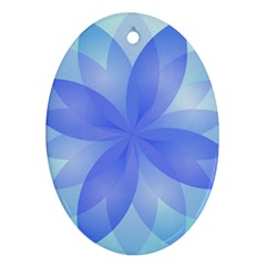 Abstract Lotus Flower 1 Oval Ornament (two Sides)