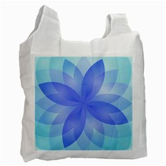Abstract Lotus Flower 1 Recycle Bag (one Side) by MedusArt