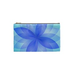 Abstract Lotus Flower 1 Cosmetic Bag (small) by MedusArt